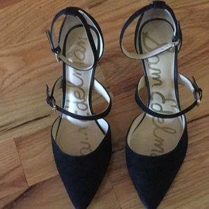 Sam Edelman Thea black suede heels
